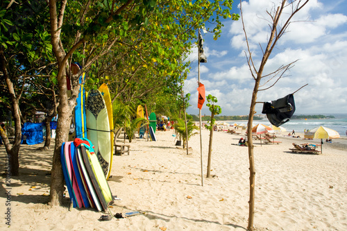 Foto op Plexiglas Indonesië Rent Surfboards Bodyboards Kuta Beach Tourists