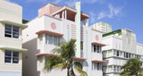 Ocean Drive, Miami Beach, Art Deco style, Florida