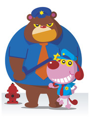 policedog&bear