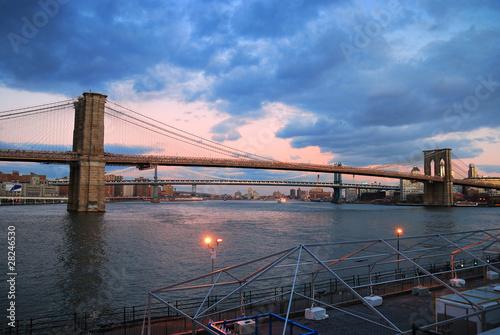 New York City Brooklyn Bridge panorama