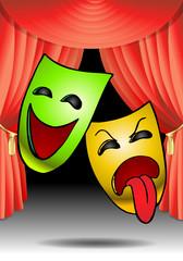 carnival mask on stage