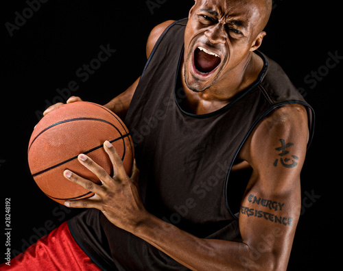 Powerful Basketball Player