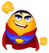 Super hero emoticon