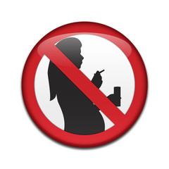 Chapa NO CONSUMO ALCOHOL NI TABACO EMBARAZADA