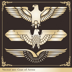 Eagle coat of arms gold heraldic