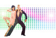 dancers in action isolated on bright background