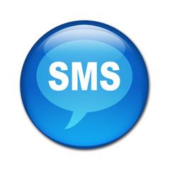 Boton brillante texto SMS