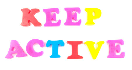 keep active written in fridge magnets