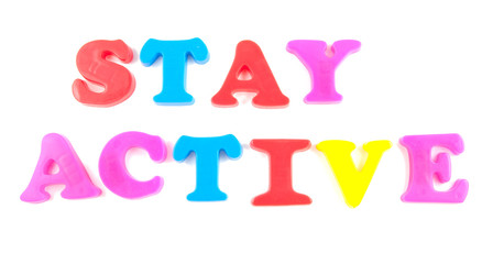 stay active written in fridge magnets