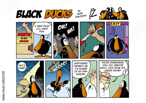 Foto op Plexiglas Comics Black Ducks Comic Strip episode 63