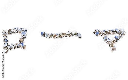 スタックローマの写真は、白い背景で隔離される