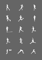 Running human silhouette