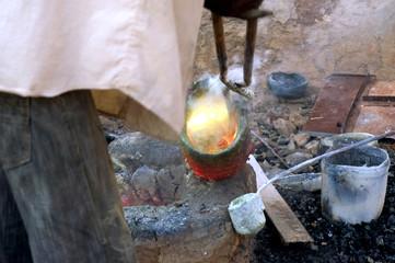Travail du bronze en Afrique