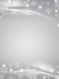 Fototapety crystal snowflakes grey background