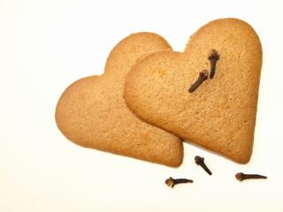 dwa serca z piernika