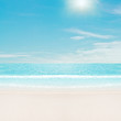 roleta: Sun over tropical beach