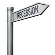 road sign recession