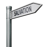 road sign salvation poster