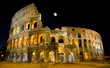 Rome, Italy - Night View of Colosseum