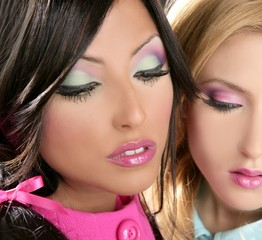 Barbie women doll 1980s style fahion makeup