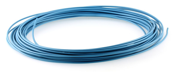 fil électrique bleu