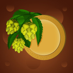 Hop and beer coaster