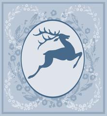 Blue Vintage Label 8