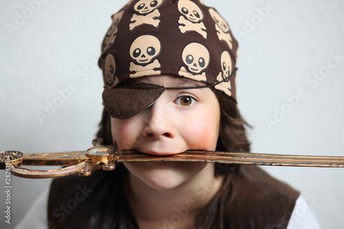 Papiers peints Carnaval pirat mit säbel