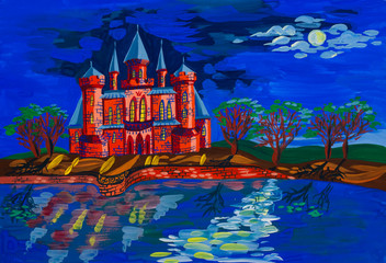 Castle on the shores of lake