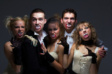 hungry vampire family