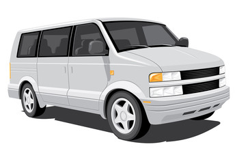 Vector isolated minivan, without gradients