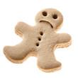Sad Gingerbread man cookie