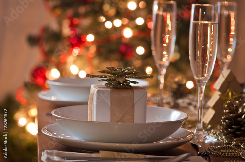 A decorated christmas dining table - 28264972