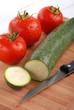 zucchina e pomodori tre