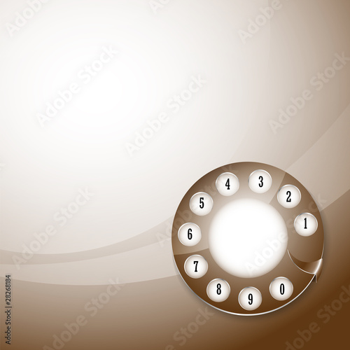 telephone disk background, vector illustration