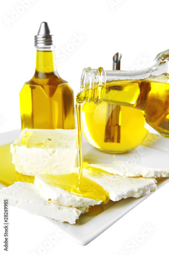 light feta cheese in oil