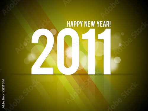 "Illustration ""Happy New Year 2011"""