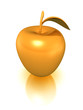 golden apple, isolated with clipping path