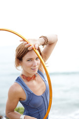 Hooping Woman