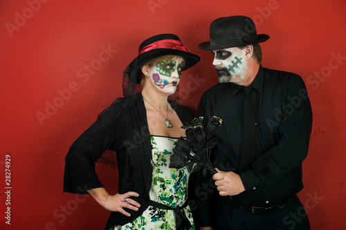 Couples Love on Day of the Dead