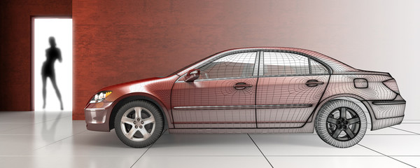 Red Car (3d)