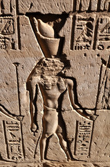 Фреска на древней стене.Египет