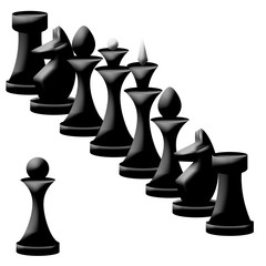 Composition of  chessmen