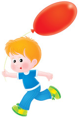 Boy with a red balloon