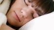 Young  sleeping woman, close up