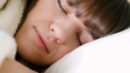 Young  sleeping woman, close up