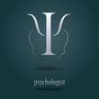 Logo psychologist in gray (vector )