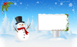 Snowman with Bilboard