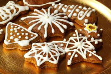 Christmas gingerbread cookies plate