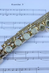 flute and note sheet
